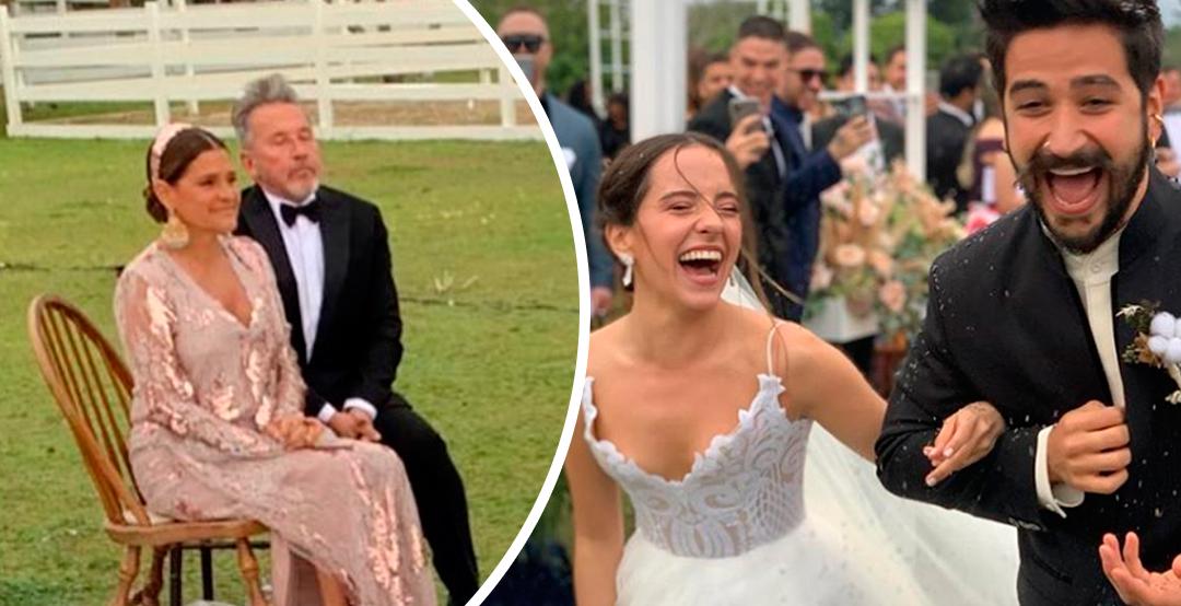 Se desata controversia por foto de la boda de Evaluna y Camilo